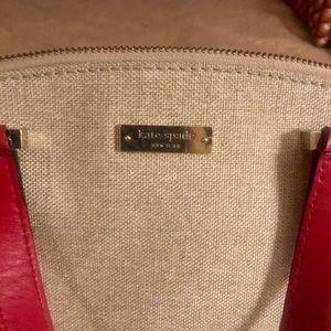 Kate Spade red/tan handbag